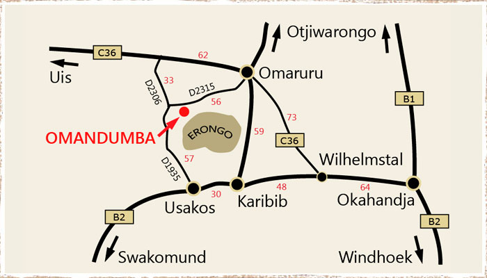 Directions to Omandumba
